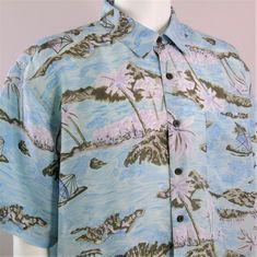 Men/'s Newport Batik Cotton Hawaiian Shirt Collar Button Down Closure Design