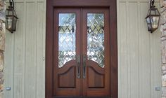 Country French Exterior Wood Entry Door Style DbyD-2063
