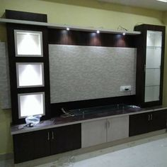 Untitled unit design With Partition unit partition Tv Cabinet Design, Living Room Tv, Tv Unit Furniture Design, Wall Unit Designs, Tv Wall Design, Tv Room Design, Lcd Wall Design, Tv Showcase Design, Wall Tv Unit Design