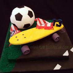 Tarta Futbol y Penny skateboard