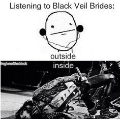 i've seen this thousands of times but just in case you haven't... Black Viel Brides, Black Veil Brides Andy, Emo Bands, Music Bands, Totalement, Mirror Image, Going Crazy, Vail Bride, Punk