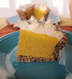 Mini Raw Pumpkin Pies. And people argue with me all the time and tell me Buckwheat is not gluten free, but it is.