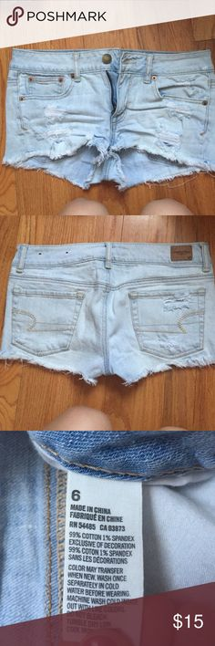 Jean shorts Lightly work, good condition! American Eagle Outfitters Shorts Jean Shorts