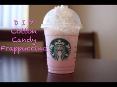 D I Y Cotton Candy Frappuccino!! - YouTube