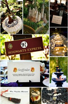 Harry Potter wedding  I'm never getting married, again. However-- super cute ideas.
