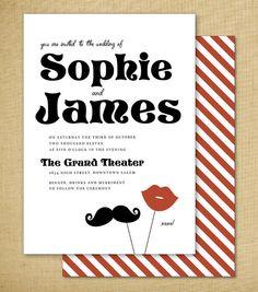 moustache invite