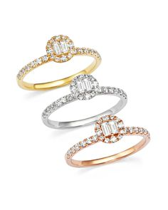Diamond Ring in 14K Rose Gold, .50 ct. t.w.