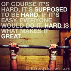 Yes! Do it, work it, make it, stronger, faster, harder. Or something like that. Yeah!