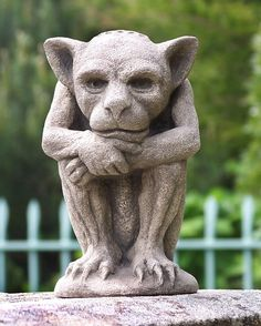 Irving Gargoyle-Gothic Imp-New York-Cast Stone-Garden-Sculpture