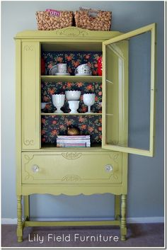 lovely cabinet makeover, I would like lot more in different colors.