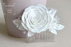 Excited to share the latest addition to my #etsy shop: White rose White wedding hair comb Rose hair comb Flower comb Hair jewelry Classic Wedding accessories White hair piece Bridal hair comb #weddings #accessories #whiterose #weddinghaircomb #whitewedding #rosehaircomb #bridalcomb #hairjewelry #classicwedding