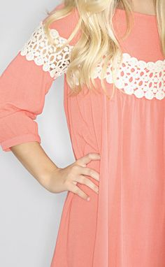 tea room dress - coral // get 15% off any order with code 'riffraffrepbeth'!! free shipping