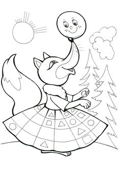 Раскраска Лиса и колобок Colouring Pages, Coloring Sheets, Coloring Books, Creative Jobs, Story Of The World, Bird Crafts, Yoga For Kids, Preschool Worksheets, Color Stories