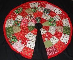 Image result for christmas tree skirt quilt pattern