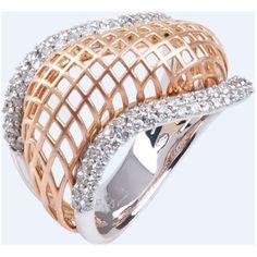 18k gold and diamond ring - dan Giloro Srl
