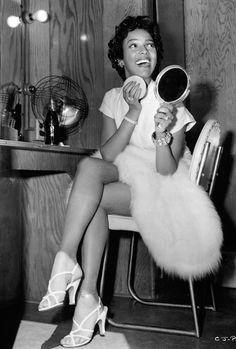 Dorothy Dandridge on the set of Carmen Jones (1954)