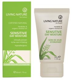 Living Nature - Sensitive Skin Day Cream (Ivory) 50 ml 16033 SD Organic Coconut Oil, Organic Oil, Hydrating Toner, Glycerin, Sensitive Skin Care, Cosmetic Companies, Moisturiser, Makeup Remover, Collagen