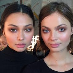 """makeupbyaniam: """" Bridget and Moa by me for We are Kindred at Sydney Fashion Week. Show directed by me for Laura Mercier @aniamilczarczyk """""""