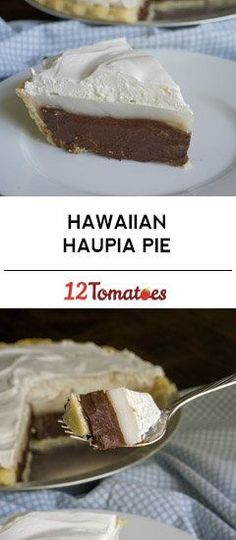 Hawaiian Haupia Pie