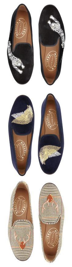 4b9f2e2260a NOVEMBER - Borrowed style from the boys  the Stubbs   Wootton slipper. 212  872 8941 These are SOO cool!