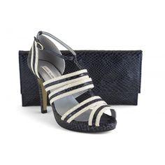 12596-013D Animal print azul y beig - zapato de vestir de la marca Ángel Alarcón