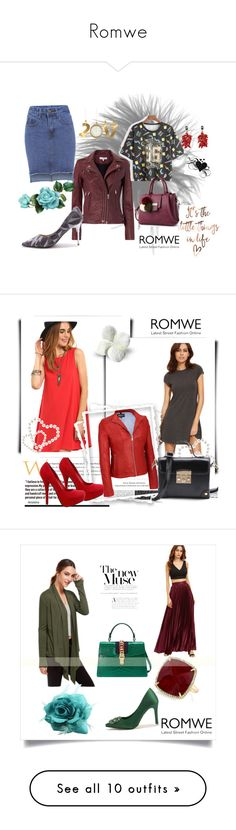 """""""Romwe"""" by ajisa-ikanovic ❤ liked on Polyvore featuring Valentino, vintage, Benefit, Jonathan Charles Fine Furniture, Arteriors, By Lassen, Élitis and Bobbi Brown Cosmetics"""