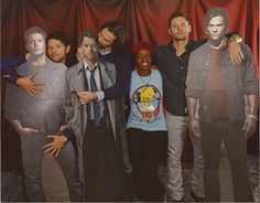 """I love how this photo-op literally shows their personalities like Misha is all """"hmm what should I do? Oh yes awkward sexual position"""" Jared being his usual crazed puppy self """"I will munch on the Misha!¡!!"""" And Jensen's is all like """"I'm just being super cool, chillin with my bro, I'm above all this childish nonsense (but just kidding I secretly love it)"""""""