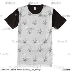 Cannabis Leaf on White All-Over-Print Shirt