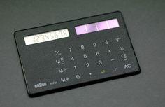 Braun ST 1 'solar card' pocket calculator, designed by Dietrich Lubs in 1987 | Room-606.com