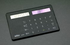 Braun ST 1 'solar card' pocket calculator, designed by Dietrich Lubs in 1987 | Room-606.com