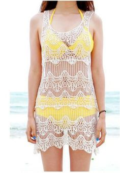 Lace Crochet Dress Cover-up for Beach
