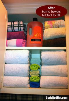Organizing The Linen Closet Towels Fold Towels And