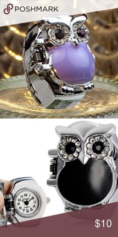 Purple & Silver Owl Fashion Ring Watch - BRAND New Purple & Silver Owl Fashion Ring Watch - BRAND New Jewelry Rings