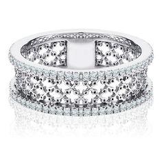 Stunning diamond mesh ring