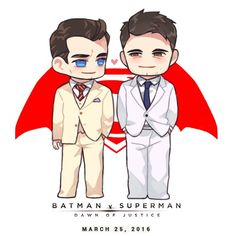 Batman and Superman chibi Dawn Of Justice, Batman Vs Superman, Ben Affleck, Henry Cavill, Superfamily Avengers, Animal Crossing Funny, Movies And Series, Superbat, Clark Kent