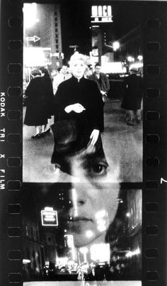 Diane Arbus Revelations Schirmer-Mosel Inadvertent double exposure of a self-portrait and images from Times Square, N.Y.C. 1957