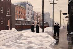 """The Newspapermen"", by Dave Rheaume - A scene from Hamilton, Ontario, around 1900. The original is sold but prints can be found here: http://fineartamerica.com/featured/the-newspapermen-dave-rheaume.html"