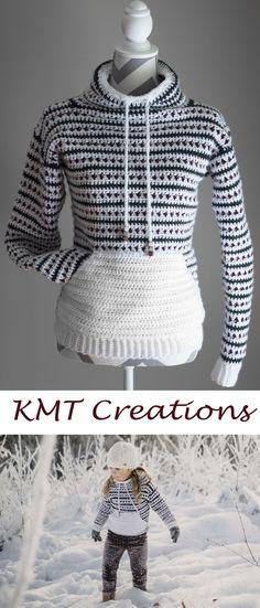 Ideas For Crochet Kids Sweater Pattern Yarns Black Crochet Dress, Crochet Jacket, Crochet Poncho, Crochet Shirt, Crochet Sweaters, Crochet For Kids, Crochet Baby, Crochet Top, Diy Crochet