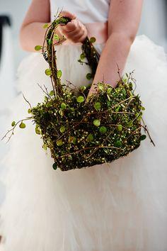 rustic flower girl basket   Paul Johnson #wedding