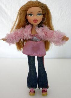"2001 Bratz MGA Auburn Hair Doll With Green Eyes Wearing A Purple Top 9 1/2"" Tall #Bratz #DollswithClothingAccessories"