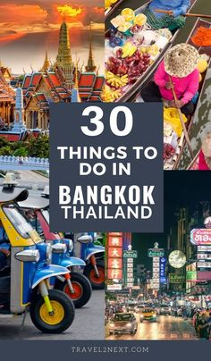 30 amazing things to do in Bangkok. Our handy list of what to do in Bangkok will help you find your way around this buzzing city. #bangkok #thailand #thailandtravel #tuktuk #thai