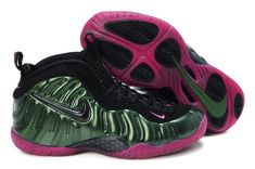 size 40 09671 33d9b New Style Nike Air Foamposite Pro Basketball Pine Green Bright Cerise Pink  Sneaker Nike Shoes,