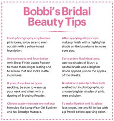 Bobbi Brown's bridal beauty tips - don't need a makeup artist