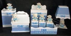 Kit Higiene Bebê Passa-fita Ursinha (o) 8 Peças - R$ 230,00 no MercadoLivre