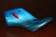 oil on old wooden shoe trees eliadesart.blogspot.gr