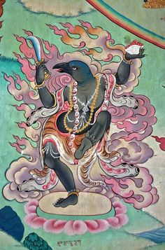 Animal figures in Nyingmapa temple. Tantra, Animal Flow, Tibet Art, Vajrayana Buddhism, Shiva Art, Japanese Artwork, Indian Paintings, Art Paintings, India Art