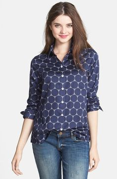 Foxcroft Dot Print Shirt available at #Nordstrom. True Summer. Such a good print.