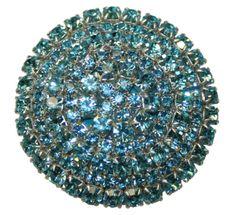 Aqua Crystal Drawer Pull
