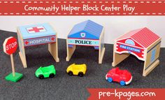 Community Helper Block Center Play via www.pre-kpages.com