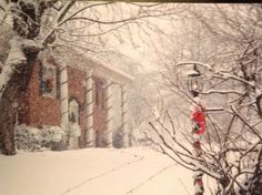 Moms winter picture of their house